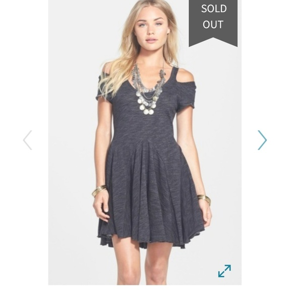 Free People Dresses & Skirts - Free People Beach  grey Tiny Dancer skater dress